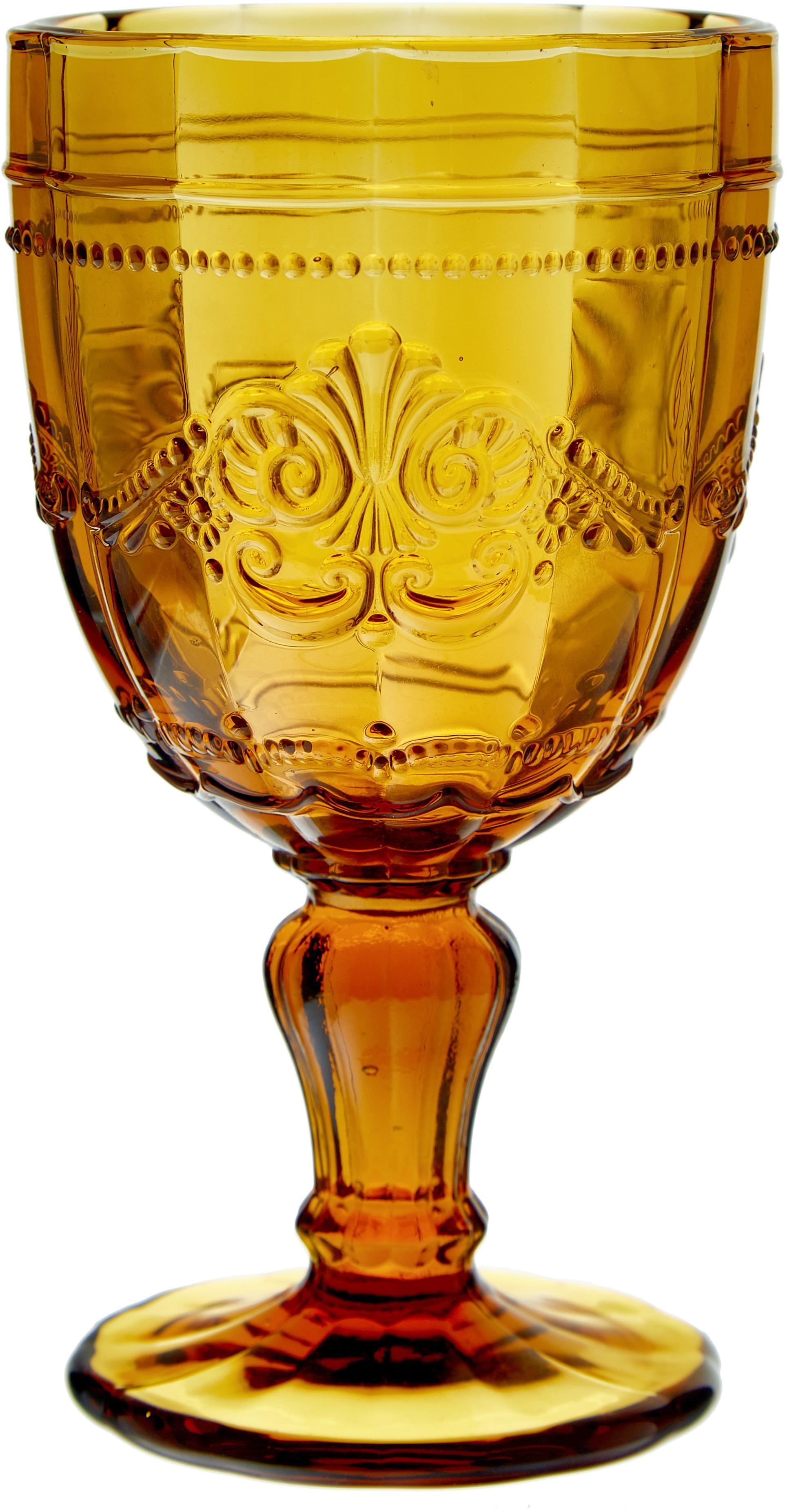 Weingläser Syrah in Bunt und mit Strukturmuster, 6er-Set, Glas, Pink, Blau, Türkis, Grün, Gelb, Grau, Ø 9 x H 15 cm