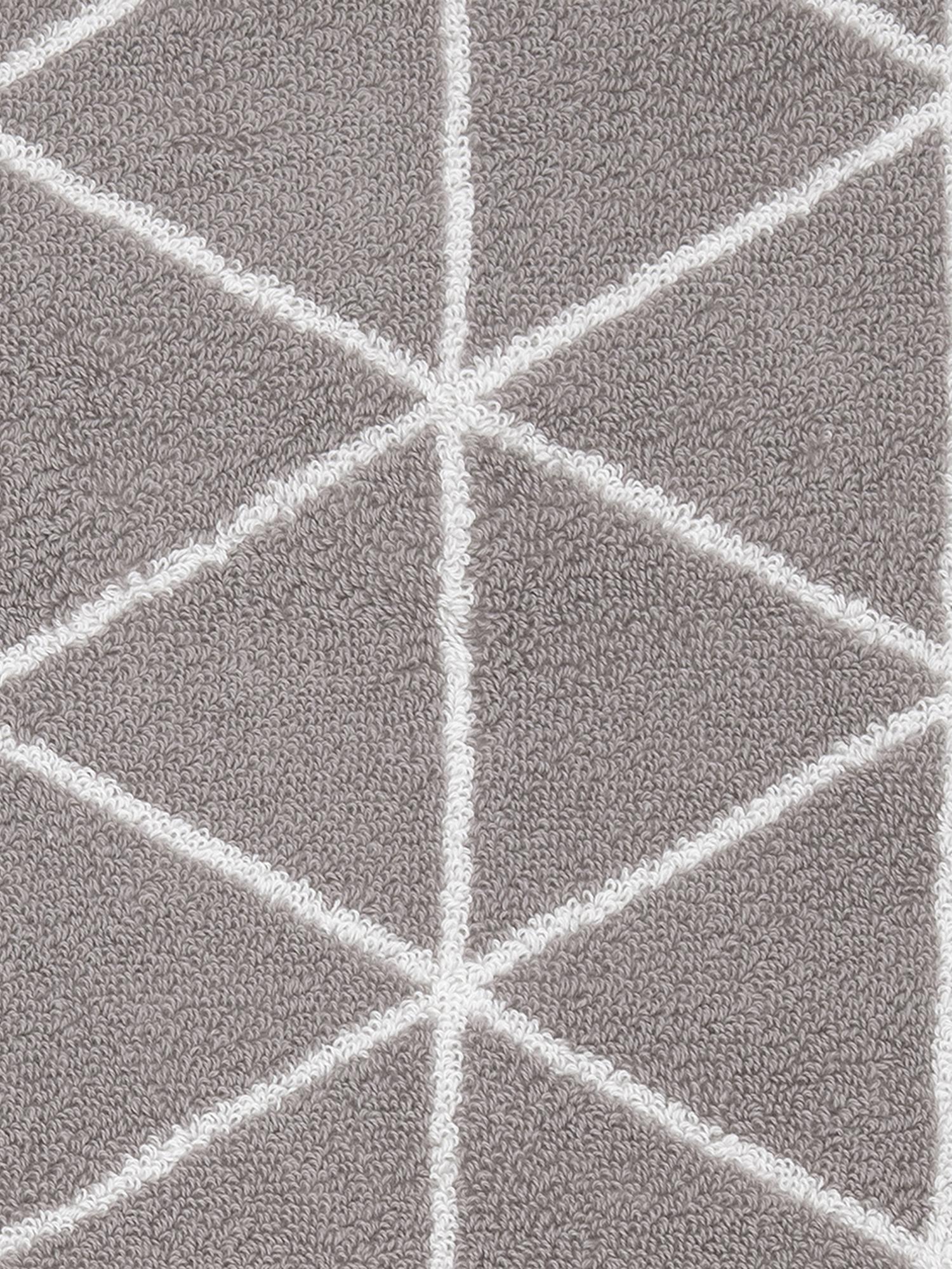 Wende-Handtuch-Set Elina mit grafischem Muster, 3-tlg., Taupe, Cremeweiss, Verschiedene Grössen