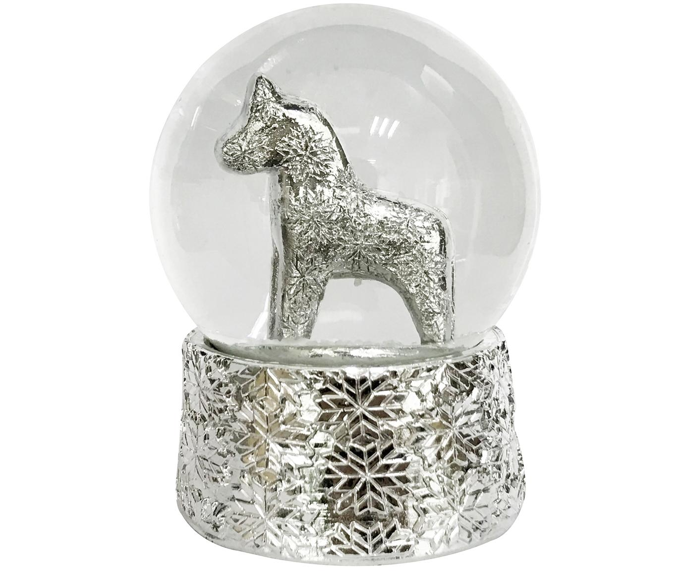 Schneekugel Serafina Horse, Sockel: Polyresin, Silberfarben, Ø 7 x H 8 cm