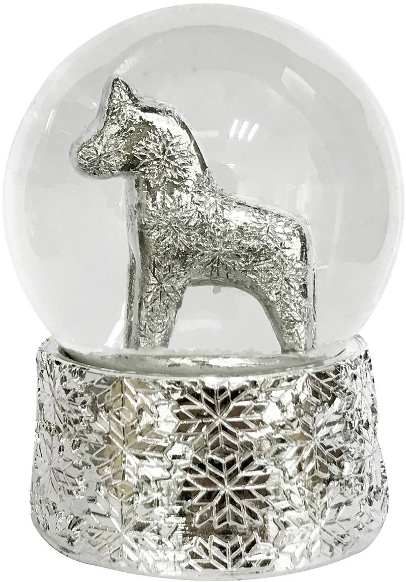 Palla di vetro con cavallo Serafina Horse, Argento, Ø 7 x A 8 cm