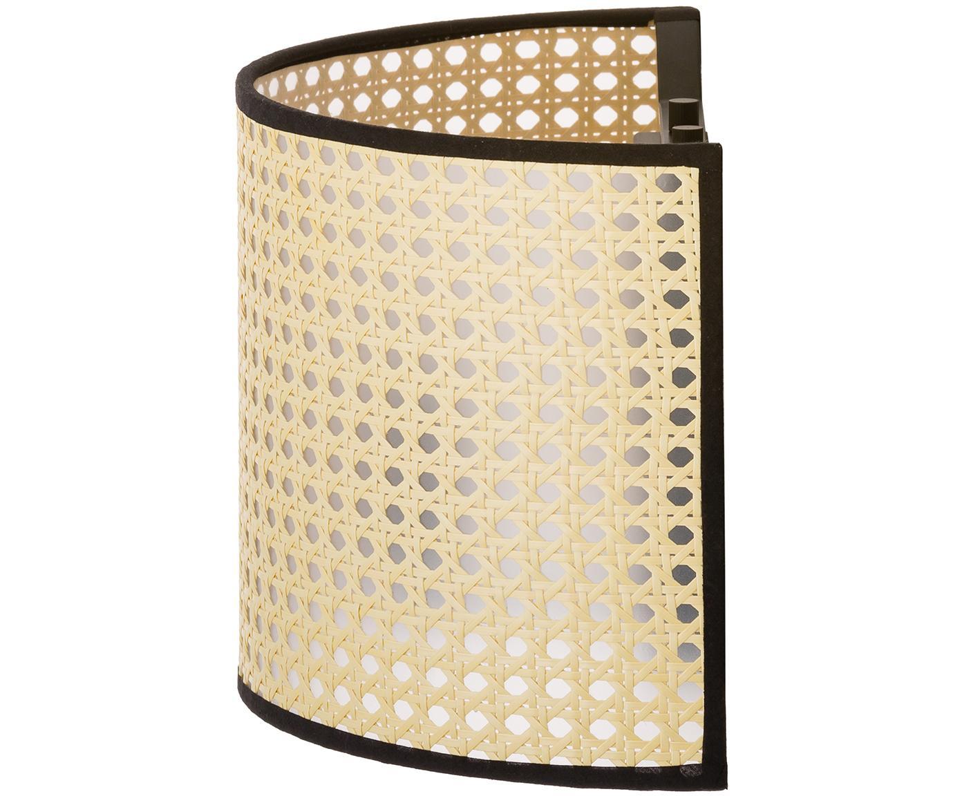 Kinkiet Vienna, Klosz: beżowy, czarny Lampa: czarny matowy, S 30 x W 20 cm
