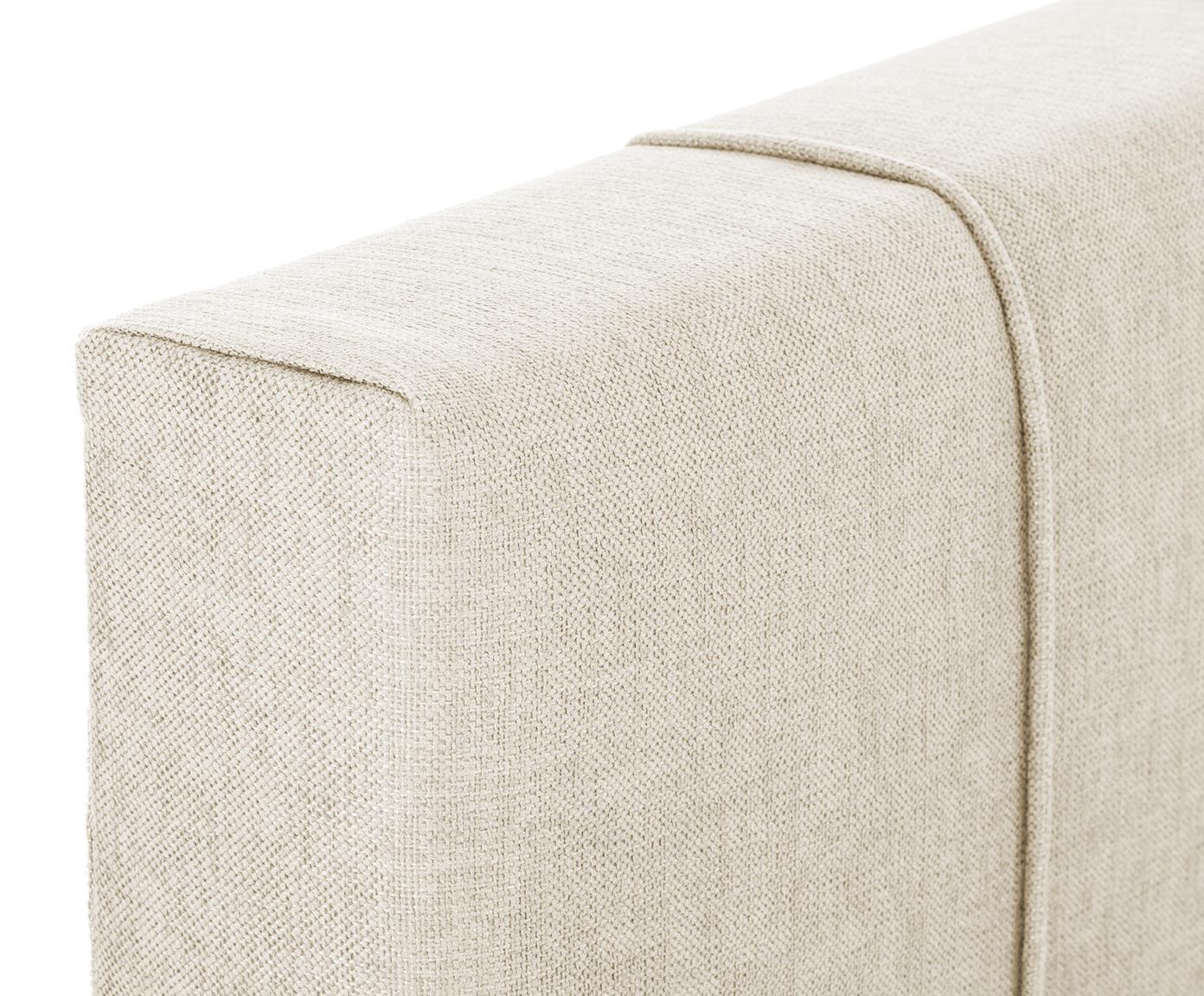 Łóżko kontynentalne premium Lacey, Nogi: lite drewno bukowe, lakie, Beżowy, 200 x 200 cm