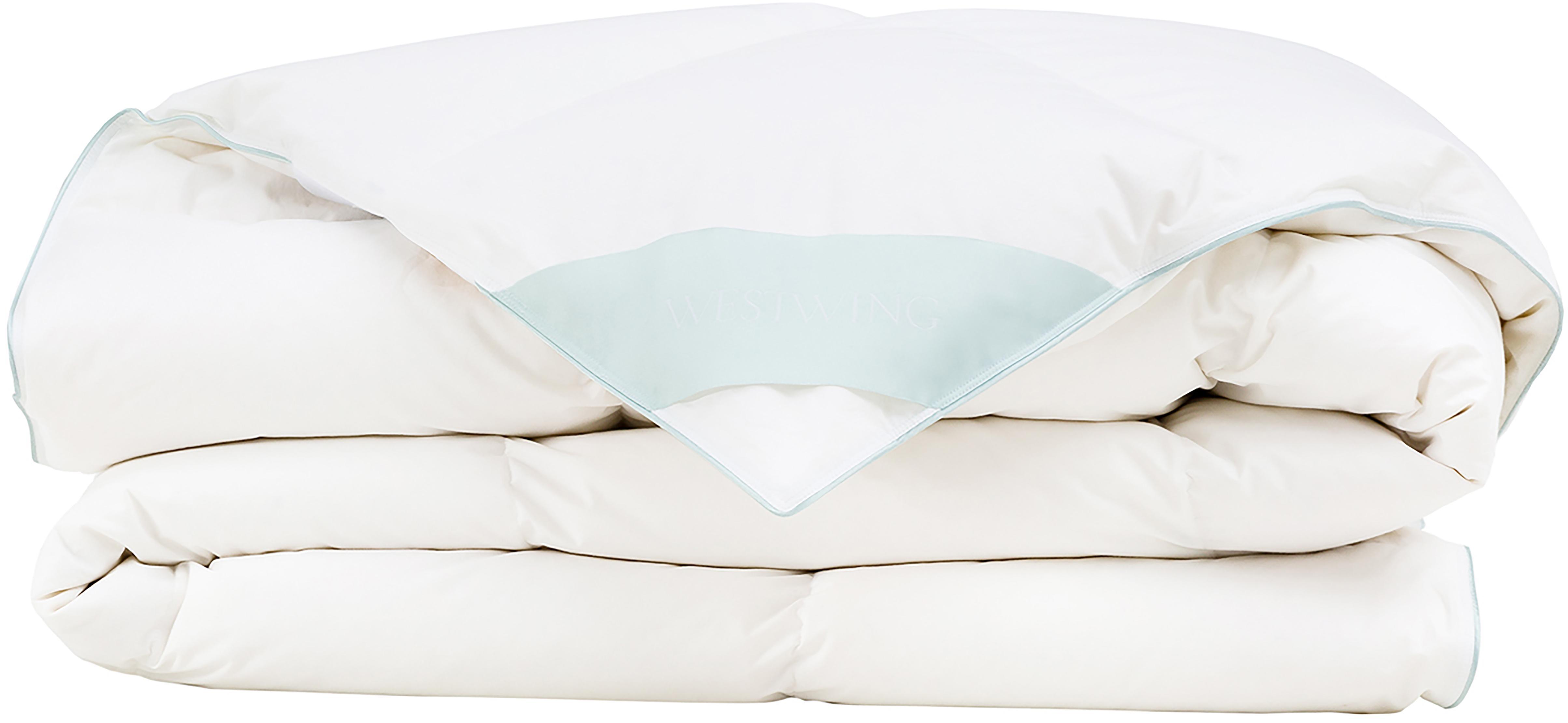 Daunen-Bettdecke Comfort, mittel, Hülle: 100% Baumwolle, feine Mak, Weiß, 200 x 200 cm
