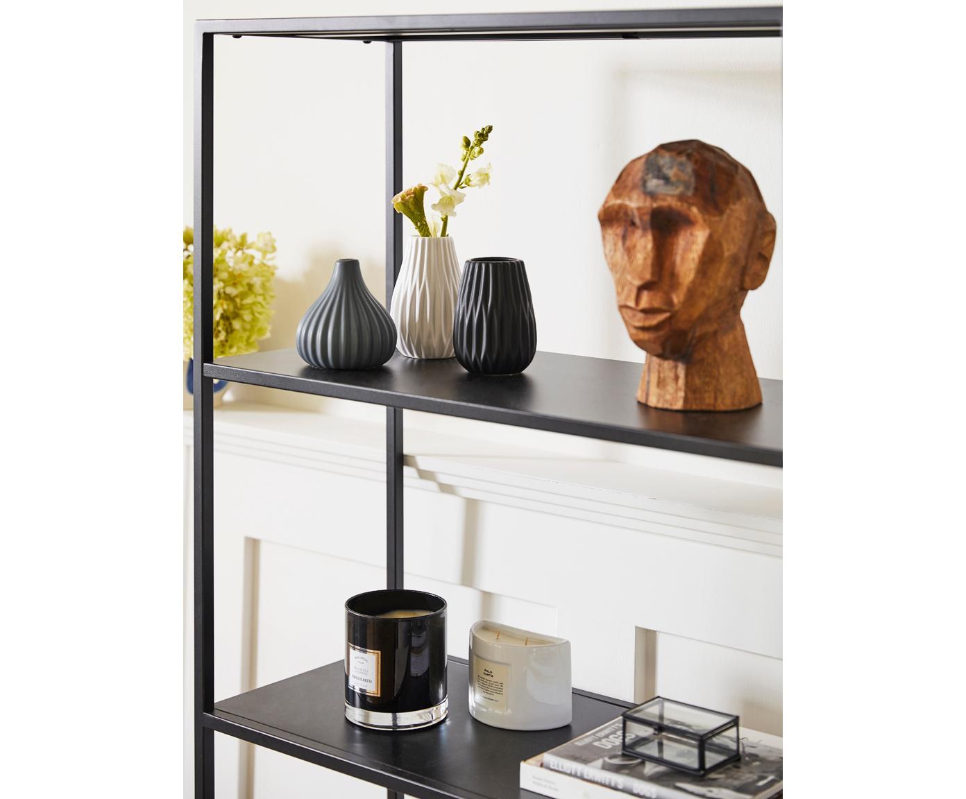 Ręcznie wykonana dekoracja Face, Drewno mangowe, Drewno mangowe, S 16 x W 24 cm