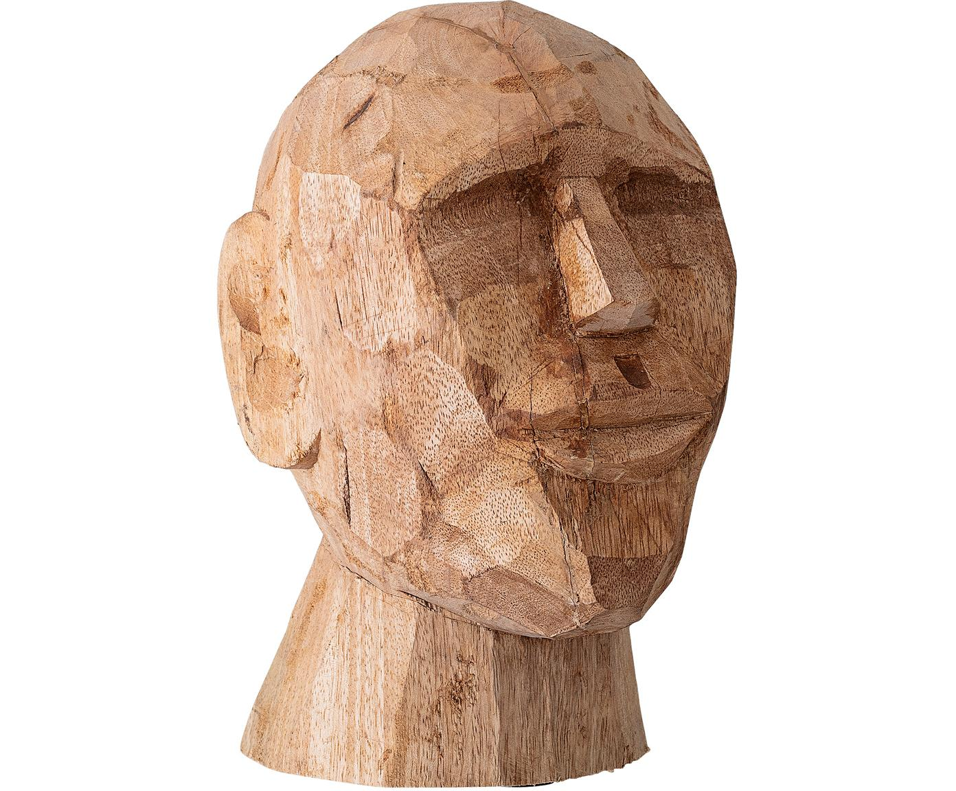 Figura decorativa artesanal Face, Madera de mango, Madera de mango, An 16 x Al 24 cm