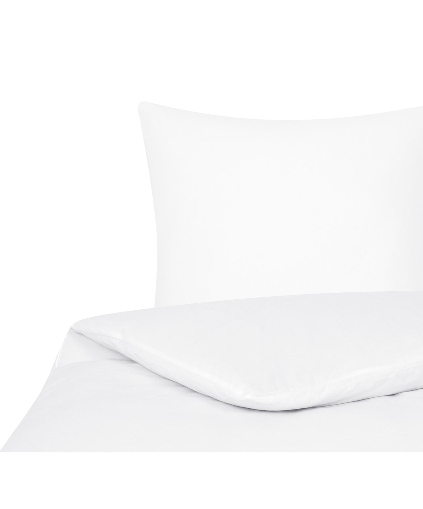 Flanell-Bettwäsche Biba in Weiß, Webart: Flanell Flanell ist ein s, Weiß, 135 x 200 cm + 1 Kissen 80 x 80 cm