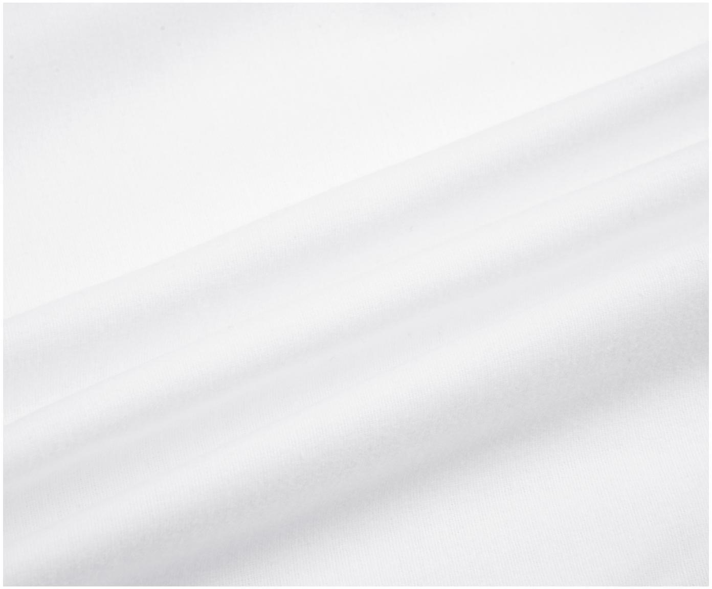 Pościel z flaneli Biba, Biały, 135 x 200 cm