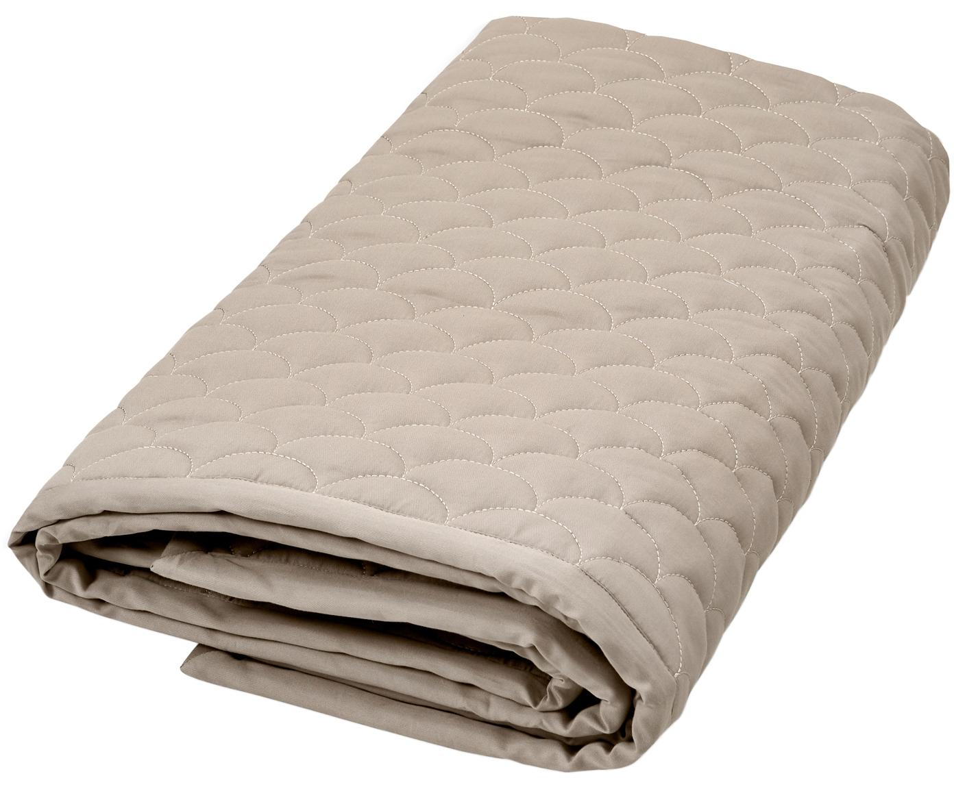 Manta Wave, Exterior: algodón orgánico, Beige, An 120 x L 120 cm