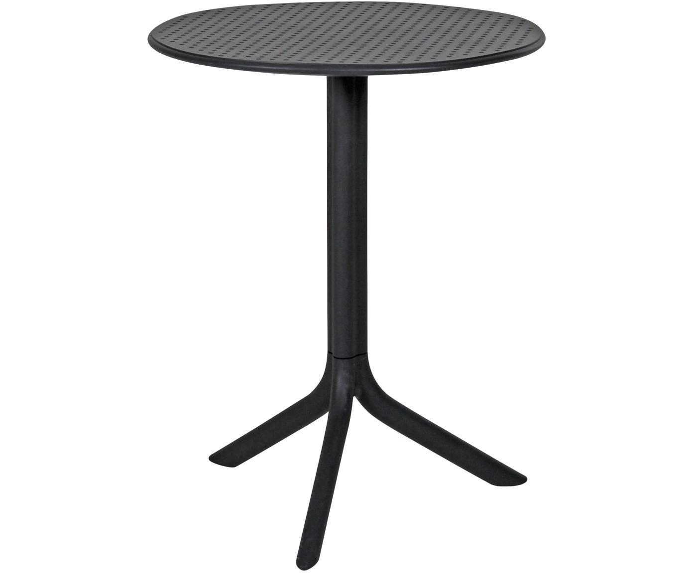 Mesa auxiliar redonda Step, ajustable en altura, Plástico reforzado con fibra de vidrio, Gris antracita mate, Ø 60 x Al 75 cm