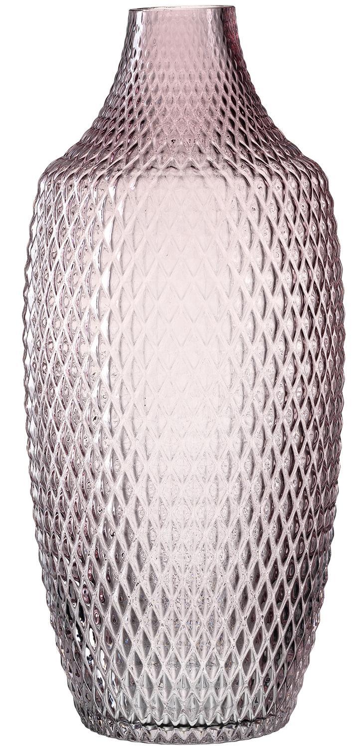 Jarrón grande de vidrio Poesia, Vaso, Rosa, Ø 17 x Al 40 cm