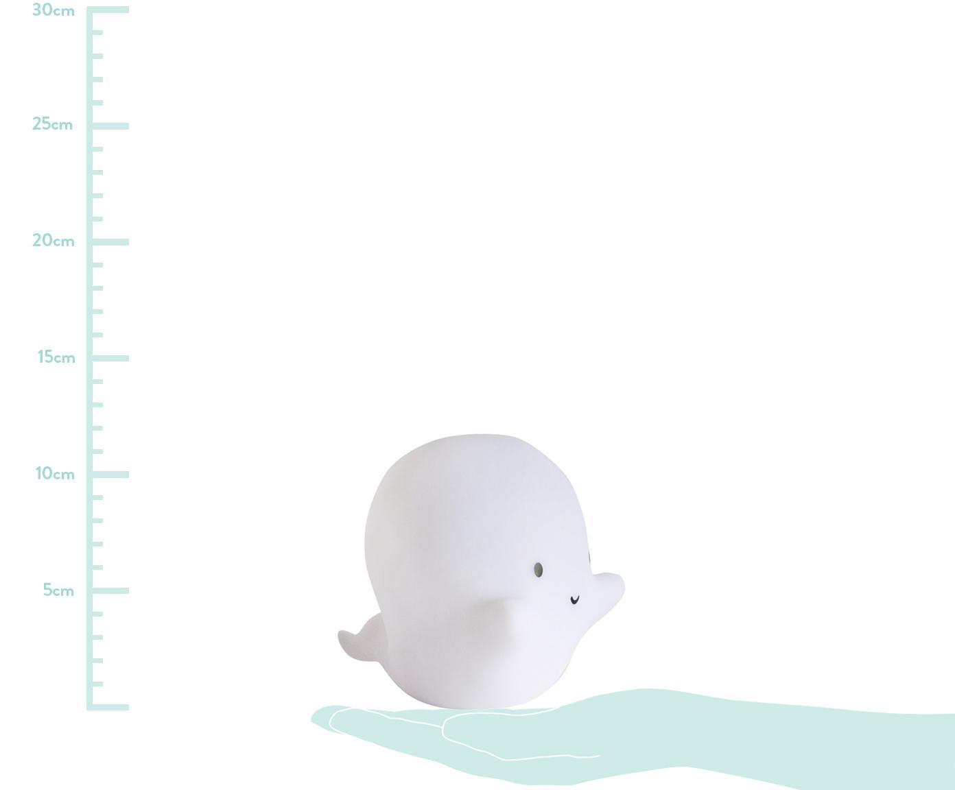 Kleines LED Leuchtobjekt Ghost mit Timer, Kunststoff, Weiß, Schwarz, 16 x 12 cm