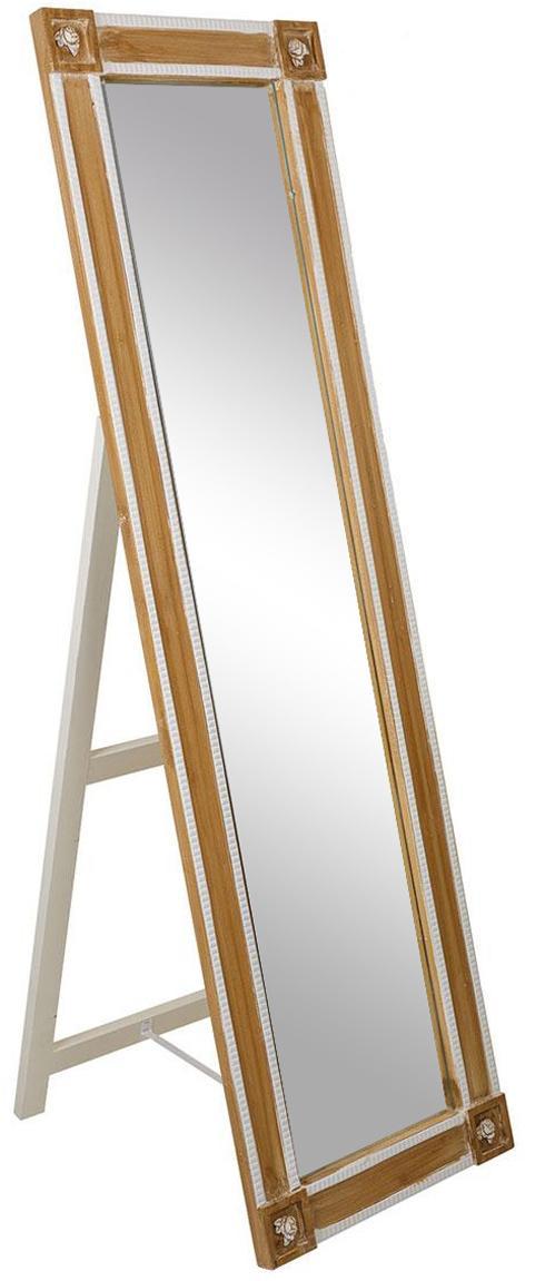 Espejo de pie  Valentina, Espejo: cristal, Blanco, beige, An 45 x Al 169 cm