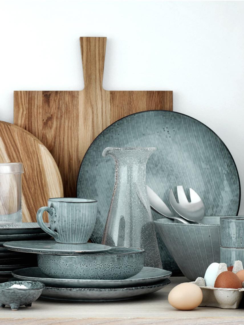 Dessous-de-plat faits à la main Nordic Sea, 4pièces, Tons gris et bleus