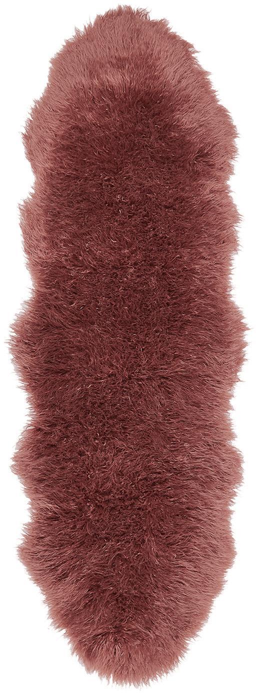 Kunstfell-Teppich Morten, gelockt, Vorderseite: 67% Acryl, 33% Polyester, Rückseite: Polyester, Terrakotta, 60 x 180 cm