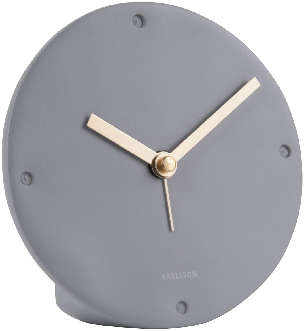 Despertador Mantel, Poliresina, Gris, Ø 12 x F 3 cm
