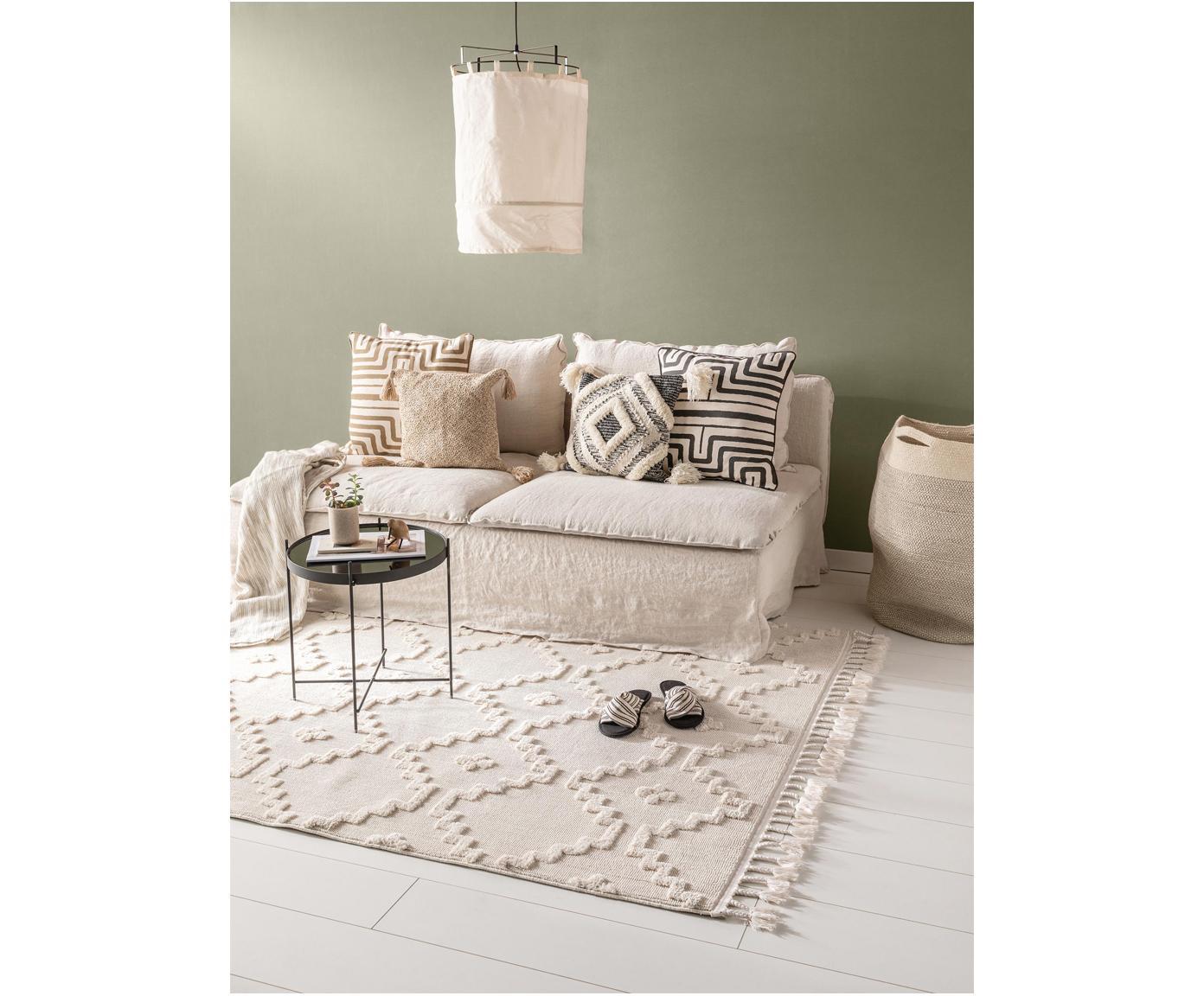 Teppich Oyo in Creme mit Reliefoptik, Flor: Polyester, Creme, B 200 x L 290 cm (Größe L)