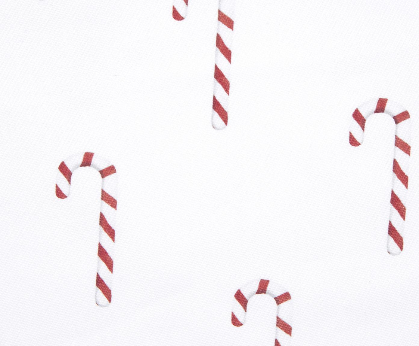 Kissenhülle Candy Cane mit Zuckerstangen, Baumwolle, Rot, Weiß, 40 x 40 cm