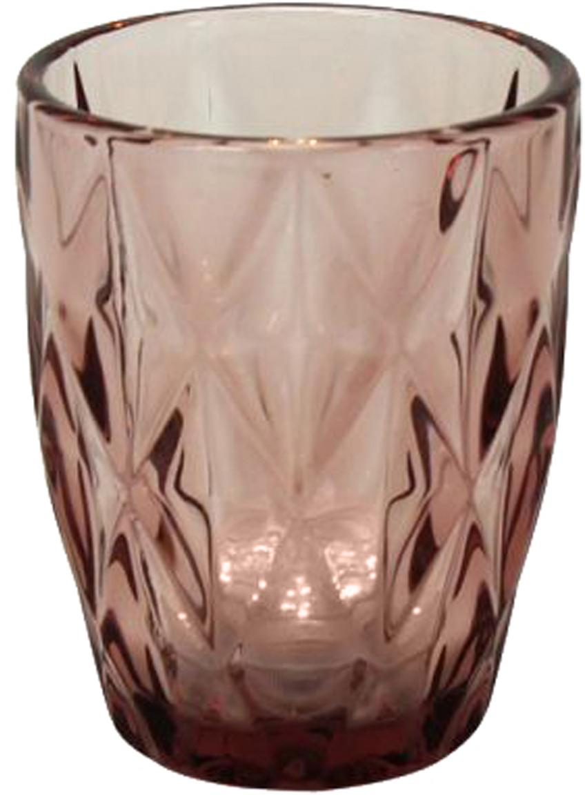 Waterglazen Lilania, 4 stuks, Glas, Lila, Ø 8 x H 10 cm