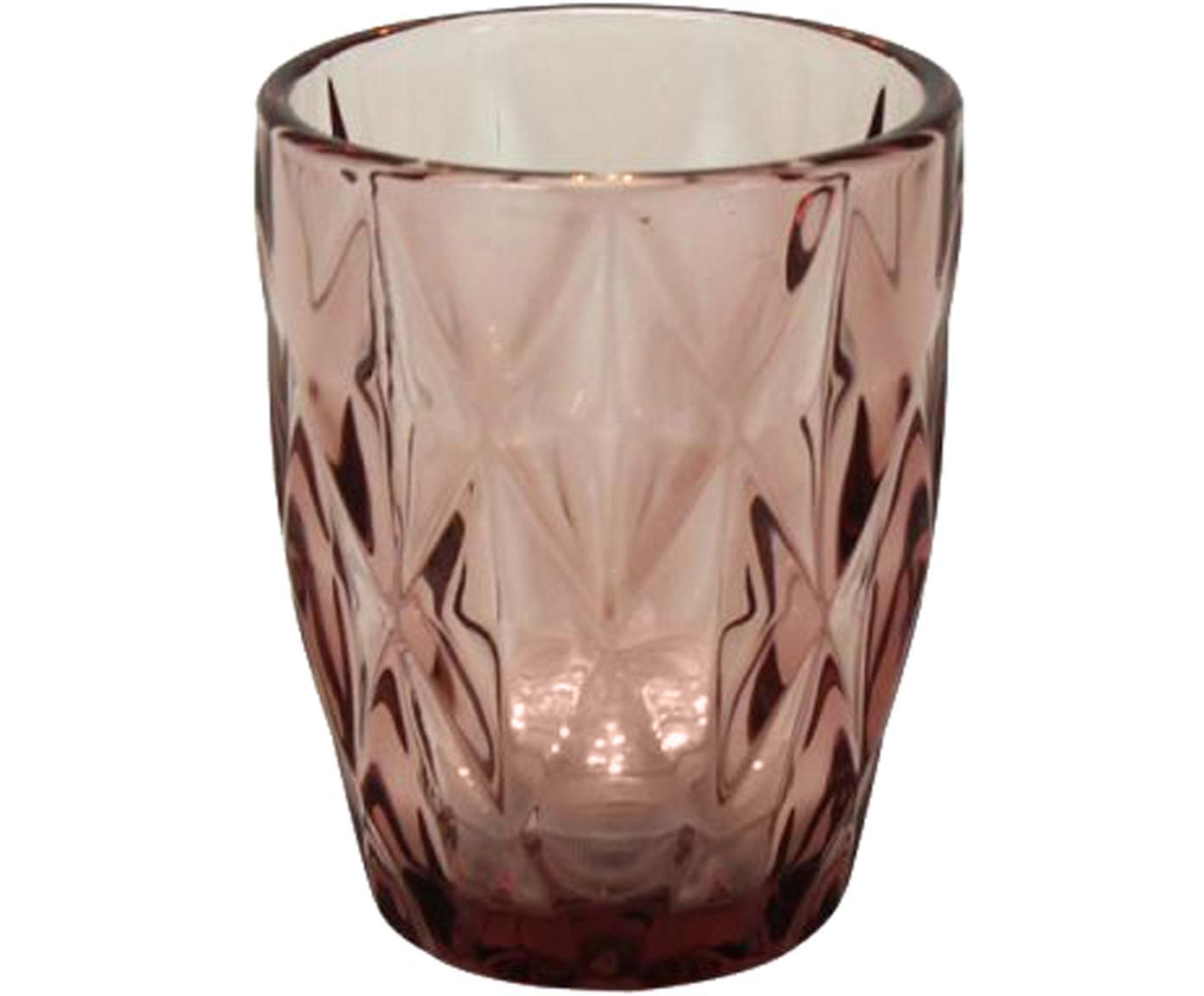 Wassergläser Lilania, 4er-Set, Glas, Lila, Ø 8 x H 10 cm