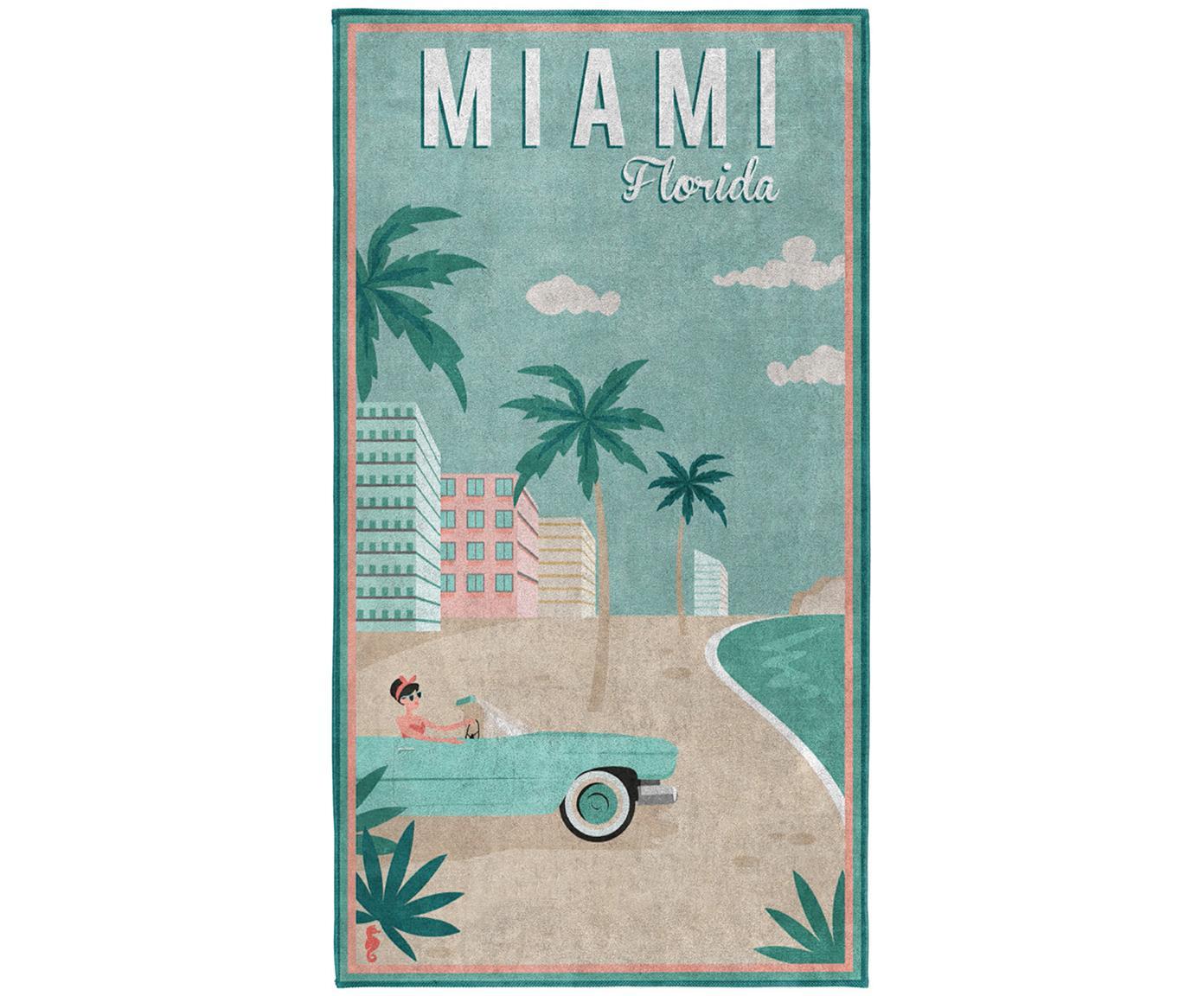 Strandtuch Miami, Mehrfarbig, 90 x 170 cm