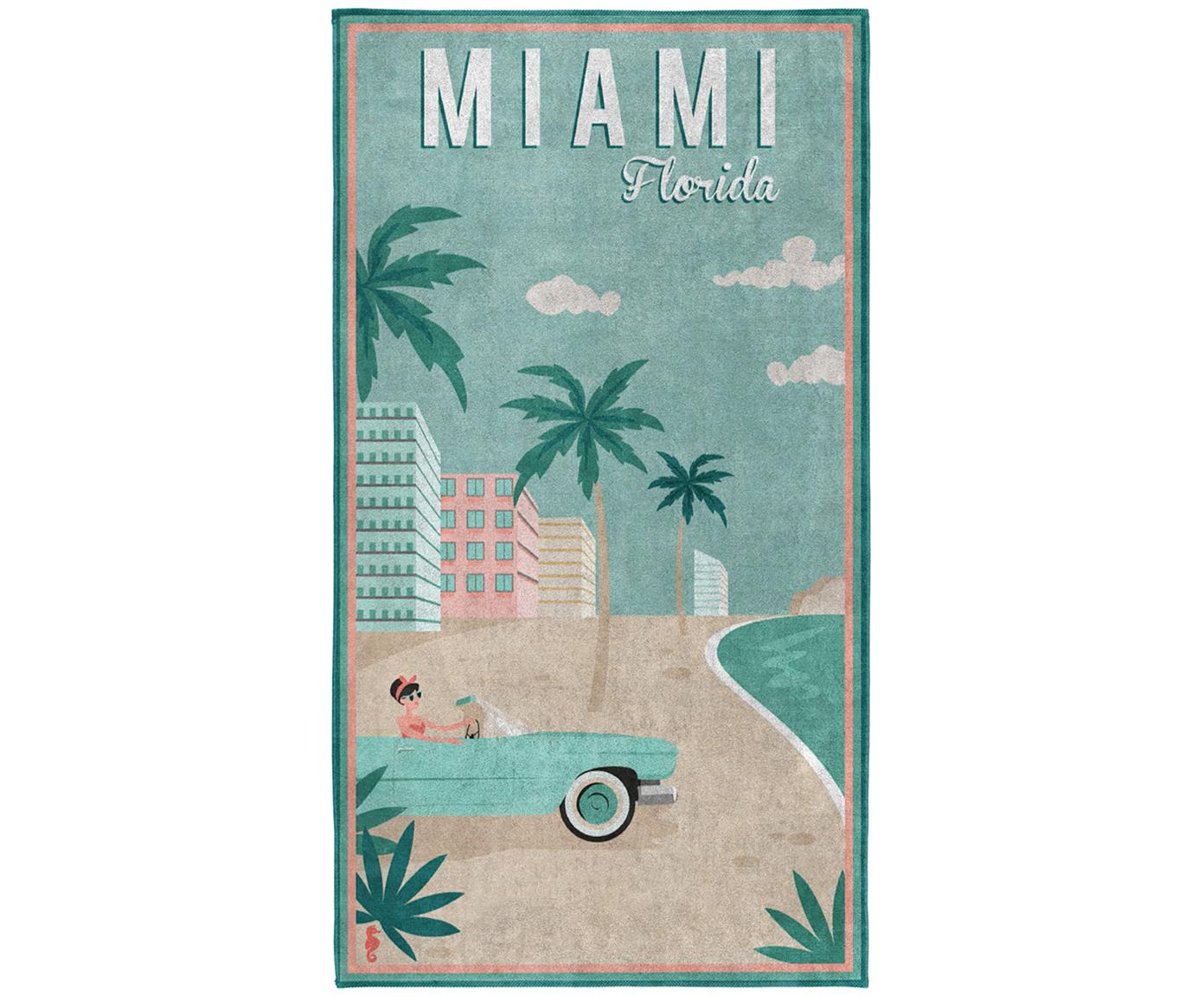 Toalla de playa Miami, Multicolor, An 90 x L 170 cm