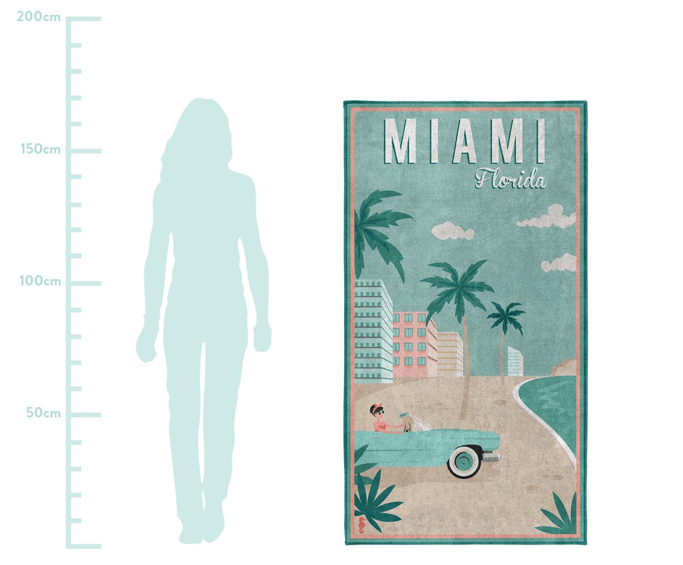 Ręcznik plażowy Miami, Egipska bawełna Średnia gramatura 420 g/m, Wielobarwny, S 90 x D 170 cm