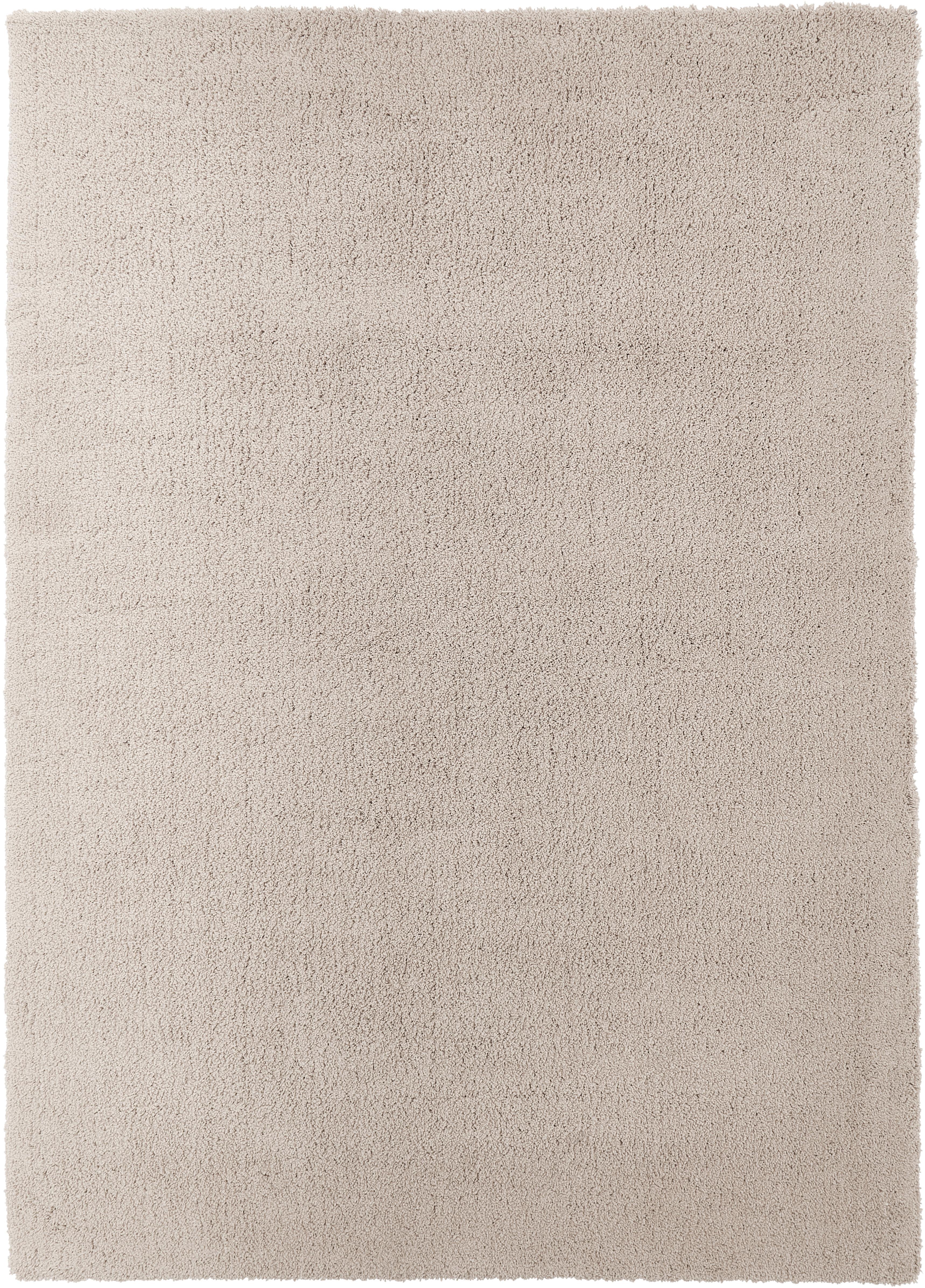 Tappeto peloso morbido beige Leighton, Retro: 70% poliestere, 30% coton, Beige-marrone, Larg. 120 x Lung. 180 cm (taglia S)