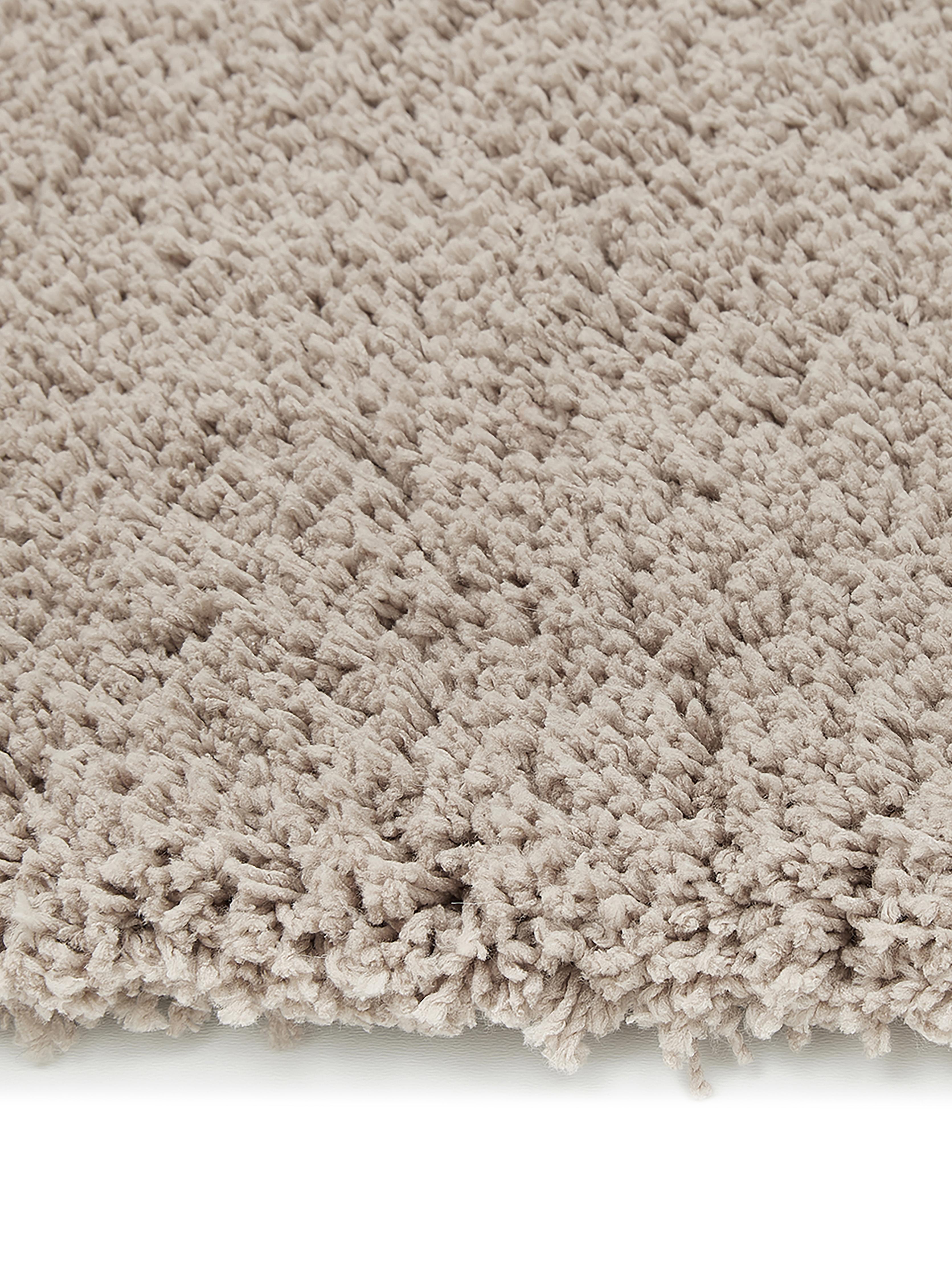 Huňatý koberec s vysokým vlasom Leighton, béžová, Béžová-hnedá