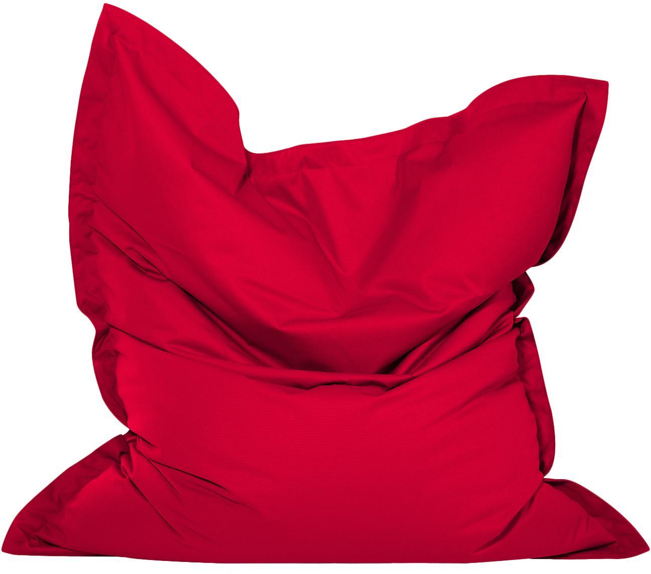 Grote zitzak Meadow, Bekleding: polyester, polyurethaan g, Rood, 130 x 160 cm