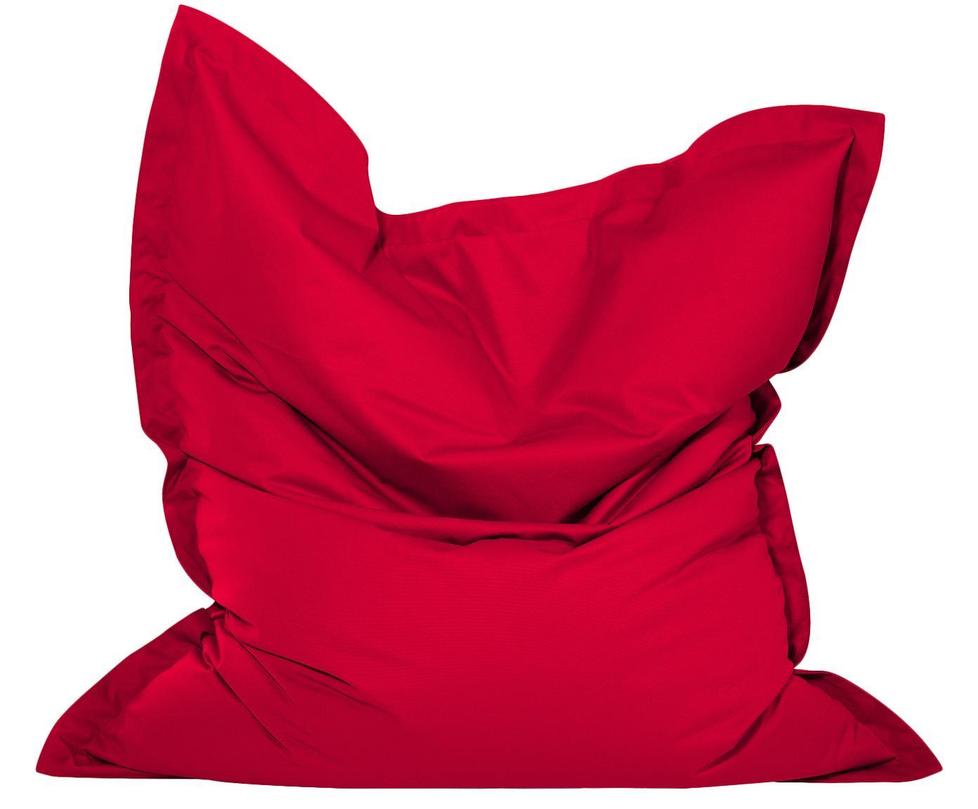 Großer Sitzsack Meadow, Bezug: Polyester, polyurethanbes, Rot, 130 x 160 cm