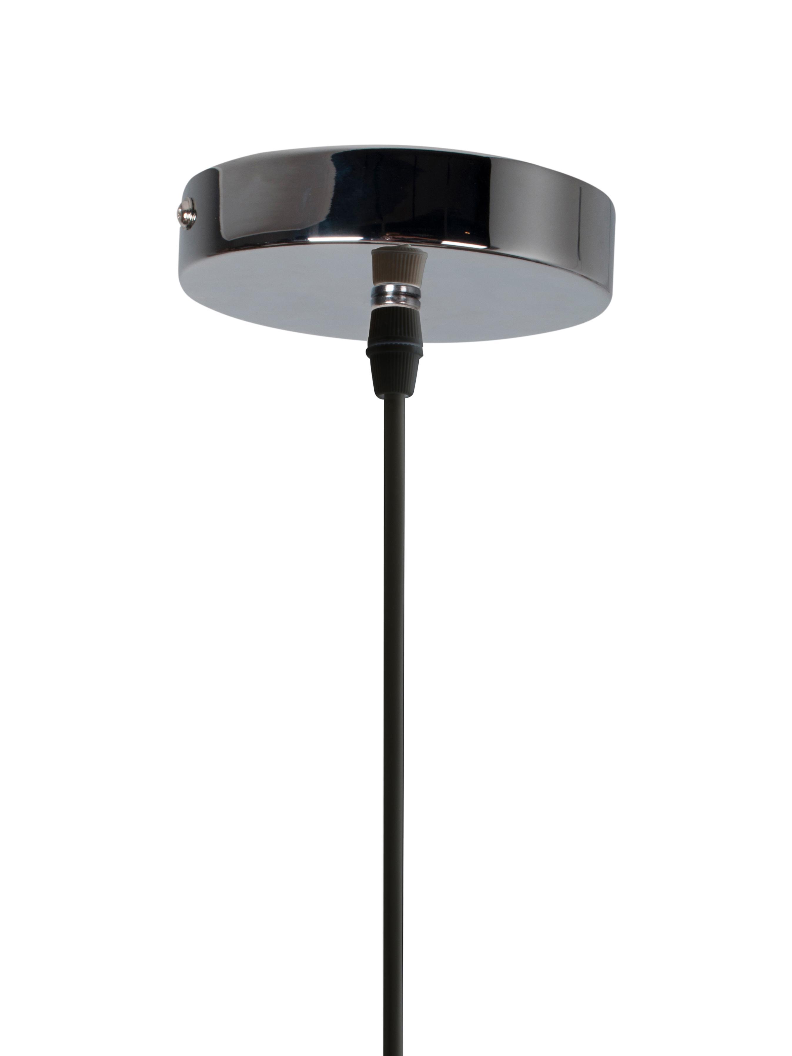 Pendelleuchte Cable Drop aus Stoff, Metall, Textil, Schwarz, Ø 45 x H 51 cm