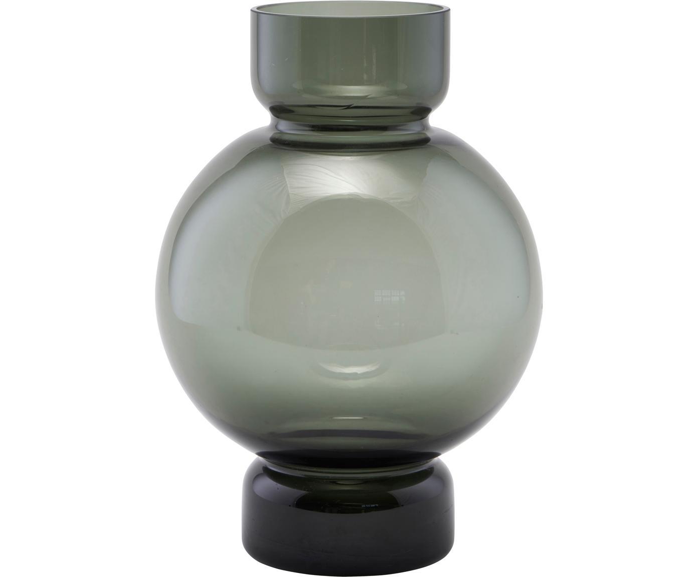Jarrón Bubble, Vidrio, Gris, transparente, Ø 18 x Al 25 cm