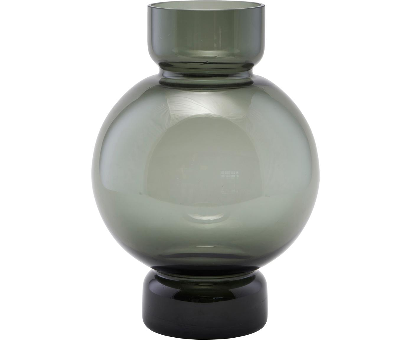 Wazon Bubble, Szkło, Szary, transparentny, Ø 18 x W 25 cm