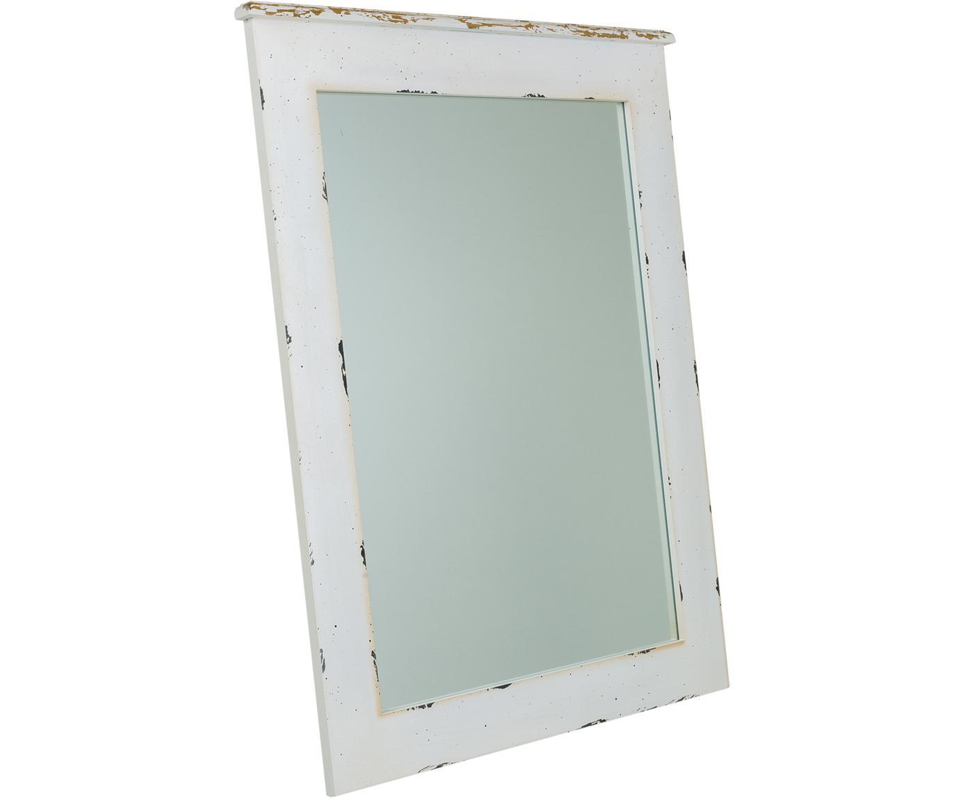 Espejo de pared Laros, Espejo: cristal, Blanco, An 70 x Al 90 cm