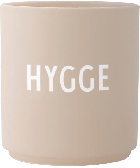Kubek Favourite HYGGE, Porcelana chińska, Beżowy, biały, Ø 8 x W 9 cm