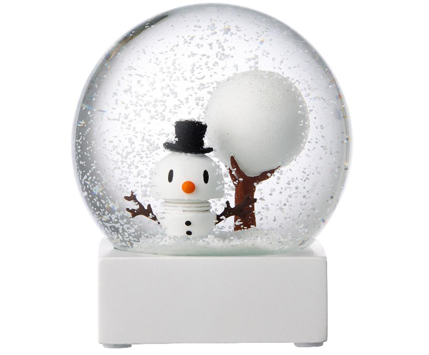 Sneeuwbol Snowman, Wit, transparant, Ø 10 x H 12 cm
