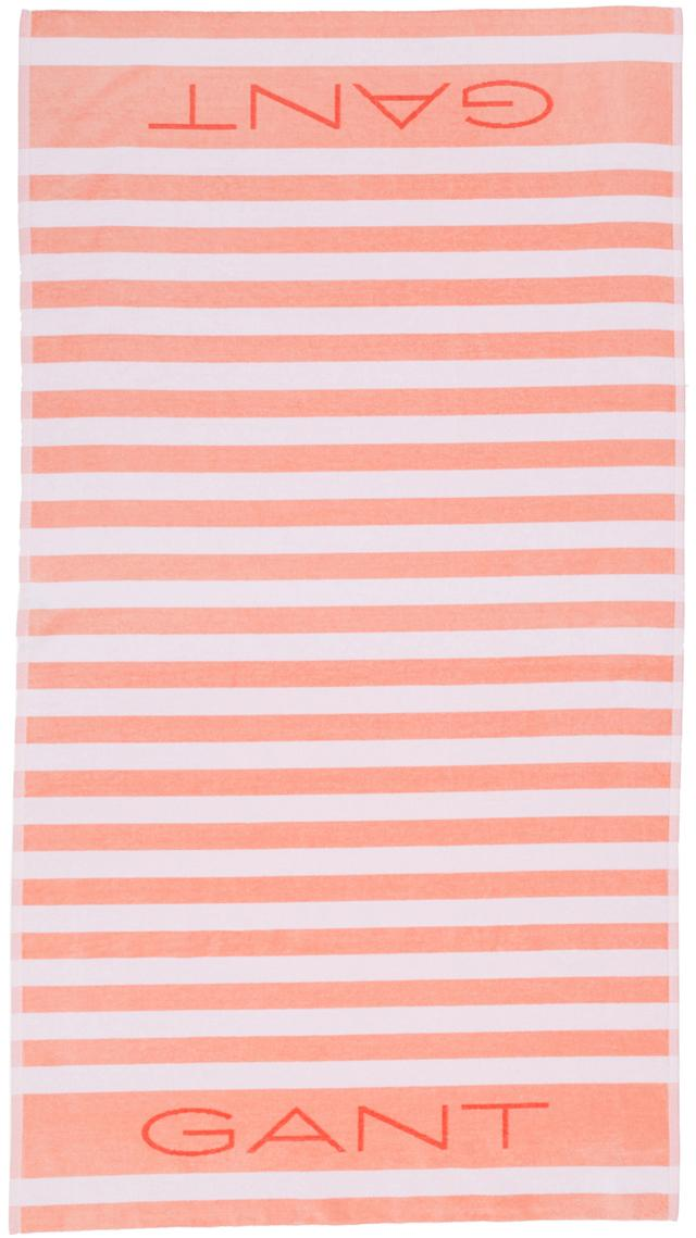 Ręcznik plażowy Rugby, Bawełna, średnia gramatura, 450g/m², Brzoskwiniowy, S 100 x D 180 cm