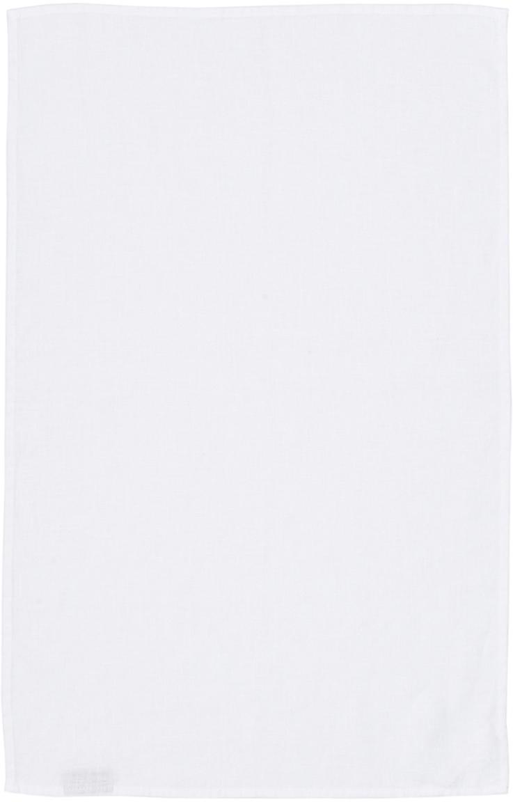 Ręcznik kuchenny z lnu Ruta, Śnieżnobiały, S 45 x D 70 cm