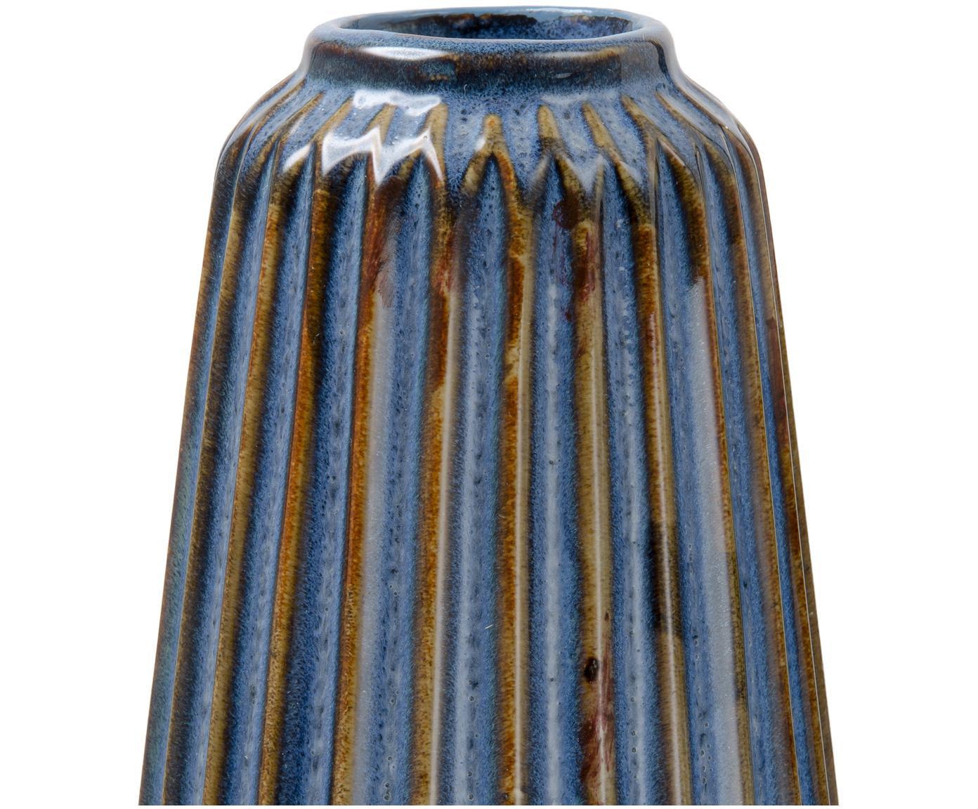 Set de jarrones de cerámica Aquarel, 3pzas., Porcelana, Tonos azules con degradado, Tamaños diferentes