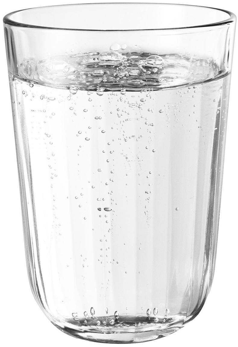 Bicchiere termico Facette 4 pz, Vetro, Trasparente, 340 ml