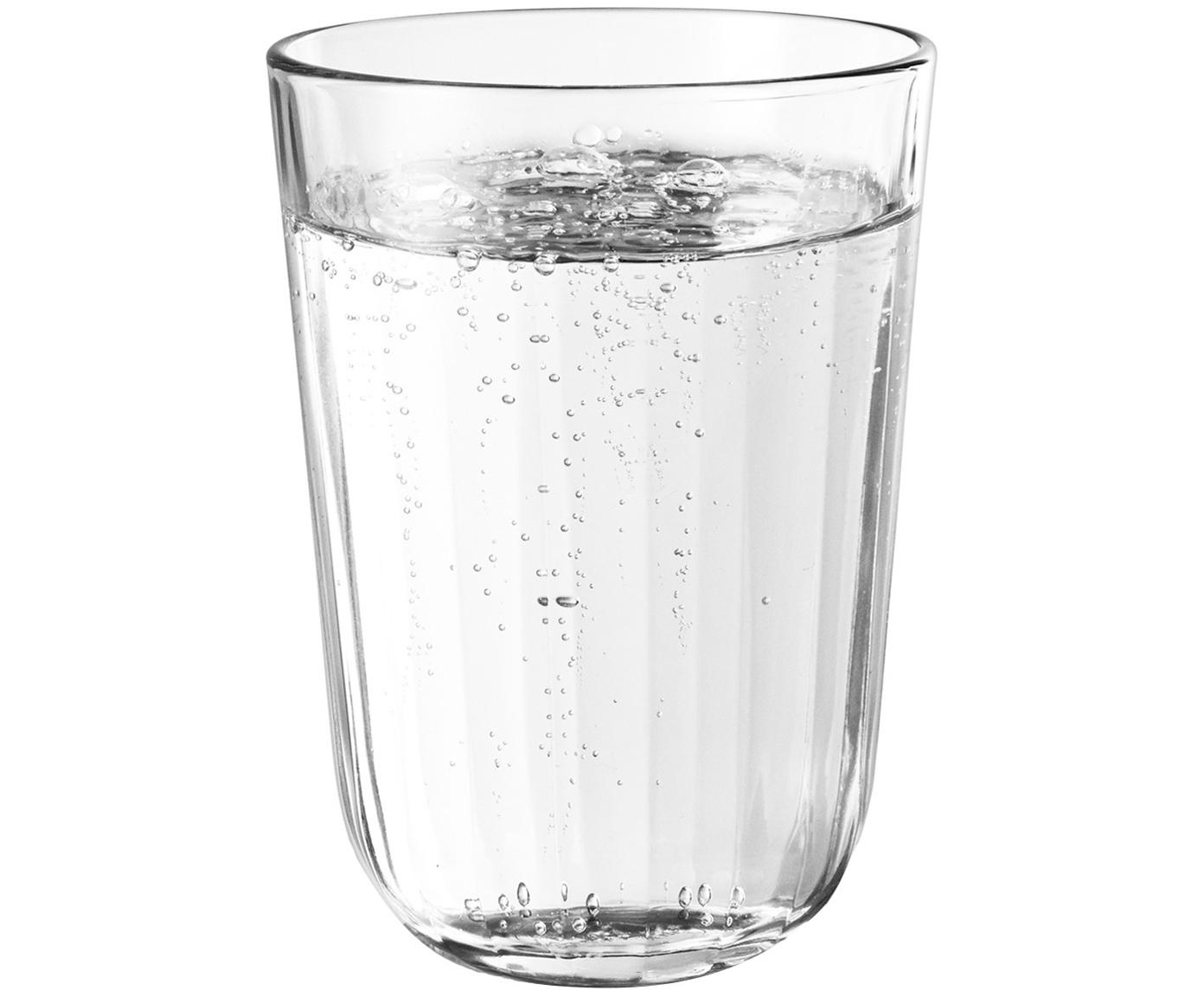 Waterglazen Facette, 4 stuks, Glas, Transparant, 340 ml