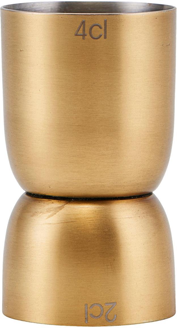 Messbecher Alir, Edelstahl, beschichtet, Messingfarben, Ø 4 x H 7 cm