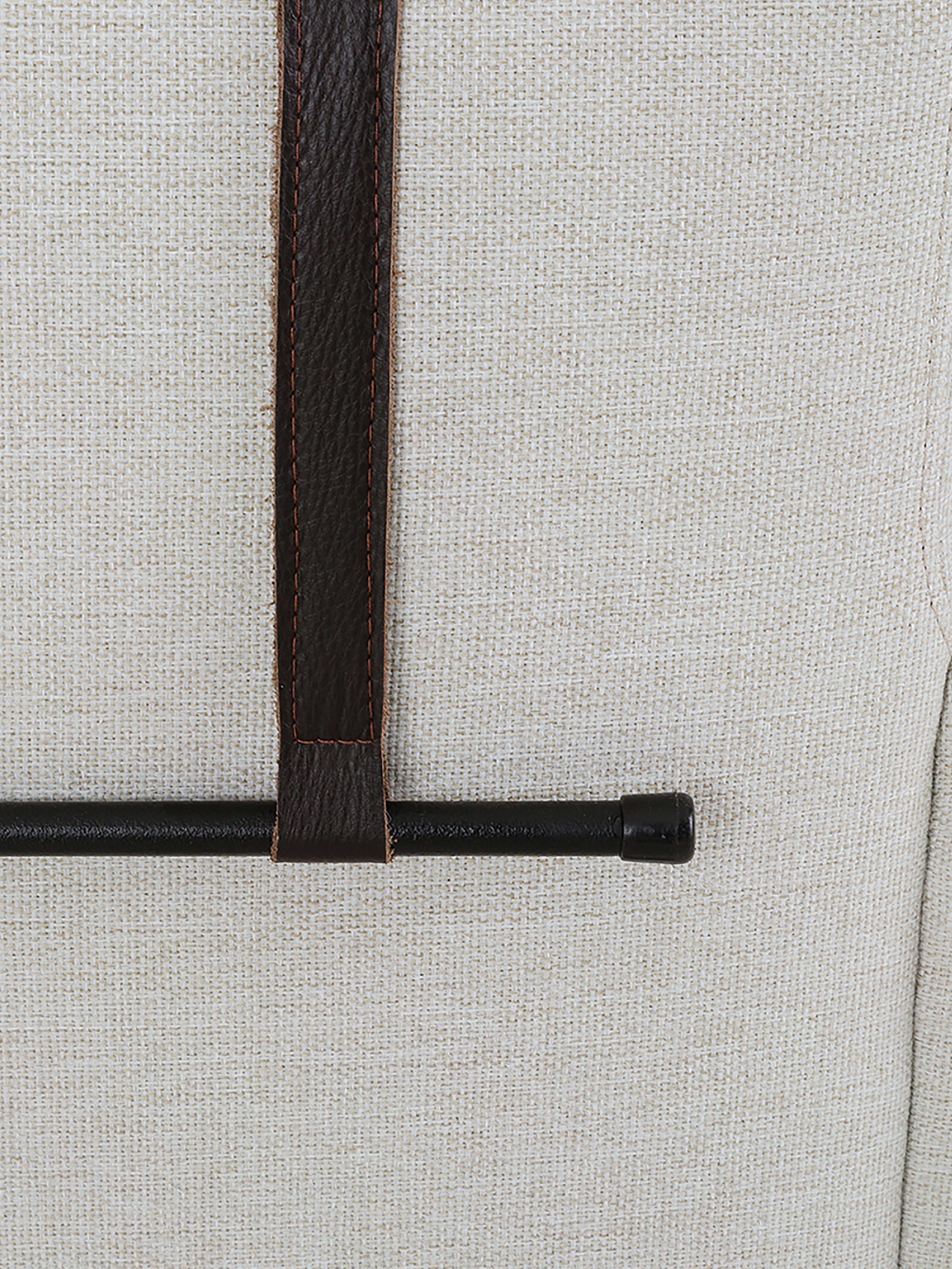 Ecksofa Brooks, Bezug: Polyester 35.000 Scheuert, Gestell: Kiefernholz, massiv, Rahmen: Kiefernholz, lackiert, Füße: Metall, pulverbeschichtet, Webstoff Beige, B 315 x T 148 cm