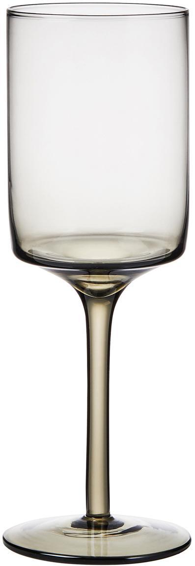 Weingläser Savor, 4er-Set, Glas, Anthrazit, Ø 8 x H 23 cm