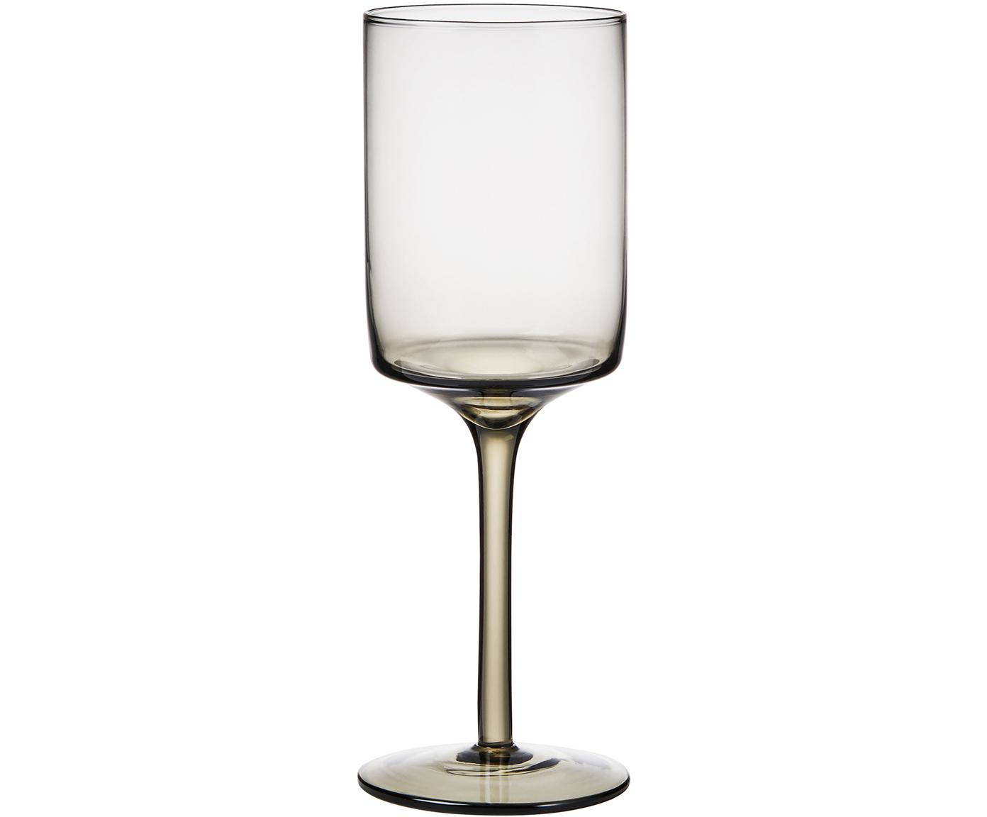 Copas de vino Savor, 4uds., Vidrio, Gris antracita, Ø 8 x Al 23 cm