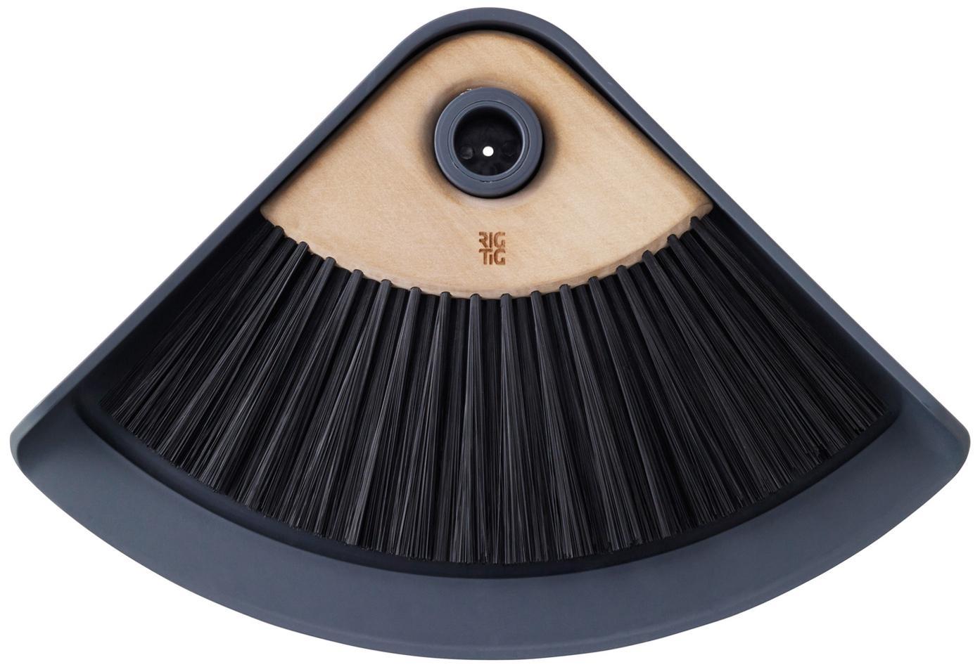 Szufelka i zmiotka Sweep-It, Tworzywo sztuczne, drewno lotosu, Szufelka: szary Włosie zmiotki: czarny, uchwyt: brązowy, S 20 x D 28 cm