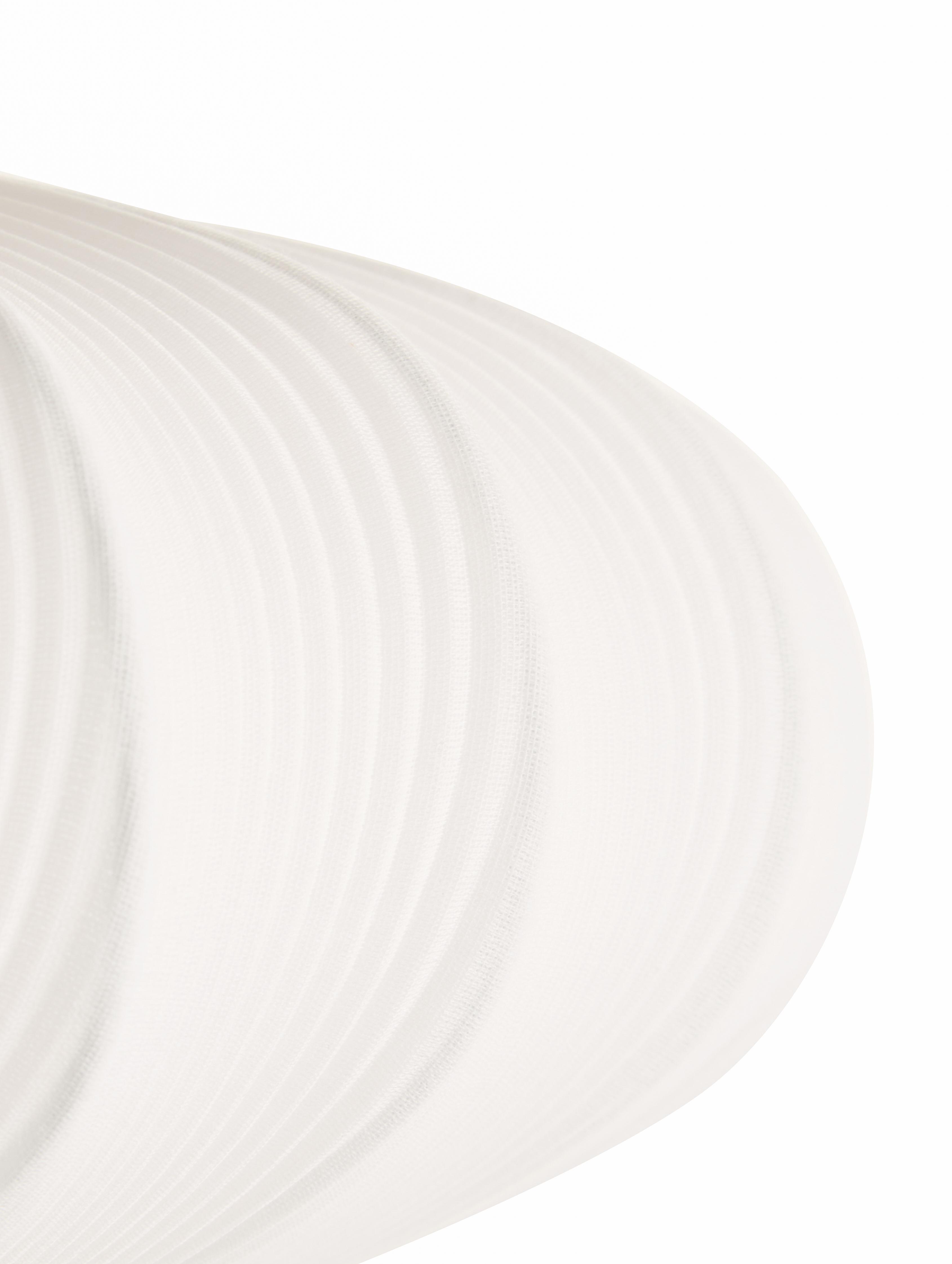 Deckenleuchte Mamsell, Lampenschirm: 60%Polyester, 40%Rayon, Gestell: Metall, Weiß, Ø 55 x H 28 cm
