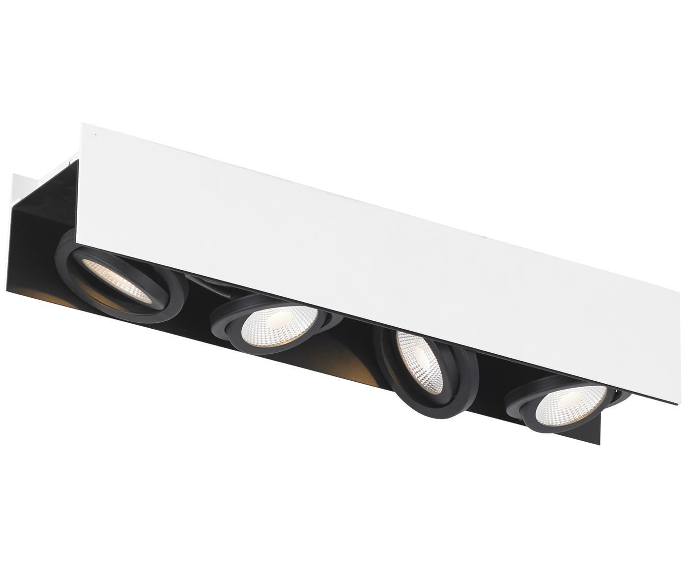 Lampa sufitowa LED Vidago, Biały, czarny, S 62 x W 11 cm