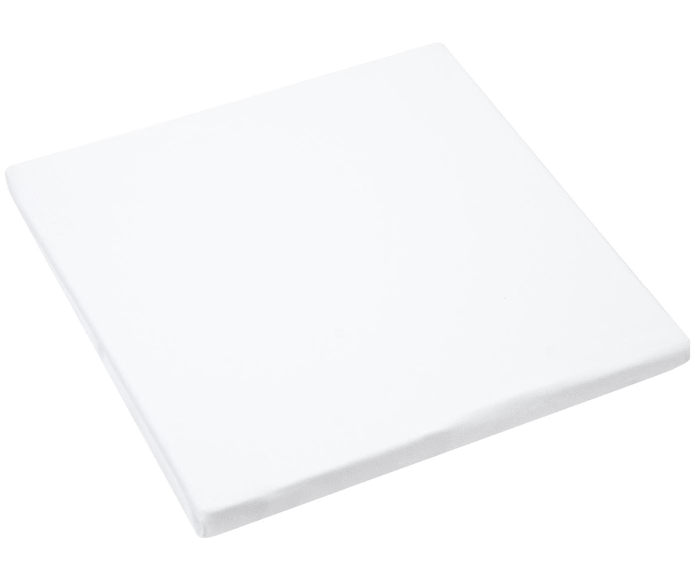 Spannbettlaken Lara, Jersey-Elasthan, 95% Baumwolle, 5% Elasthan, Weiss, 90 x 200 cm