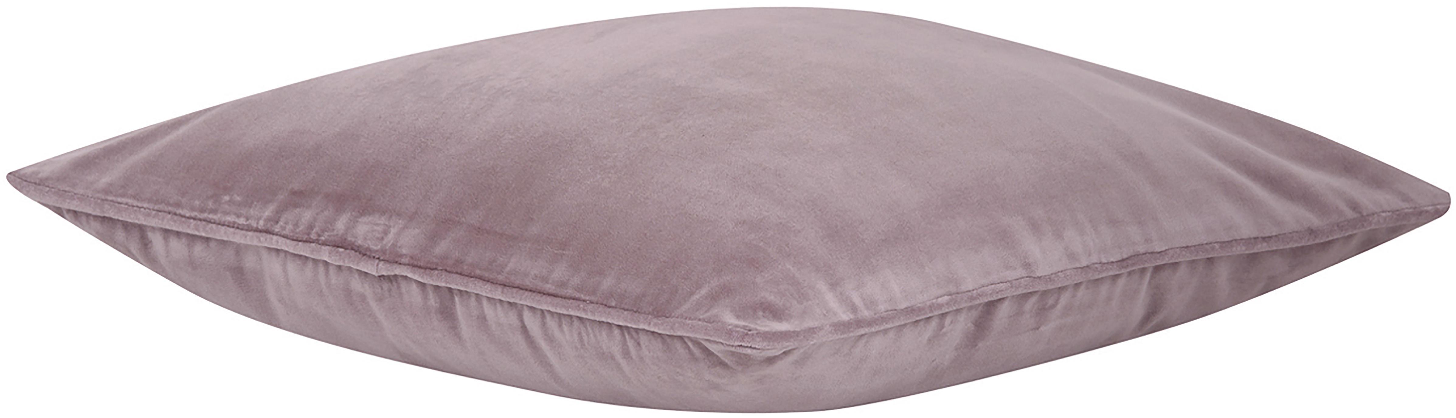 Funda de cojín de terciopelo Dana, Terciopelo de algodón, Palo rosa, An 50 x L 50 cm